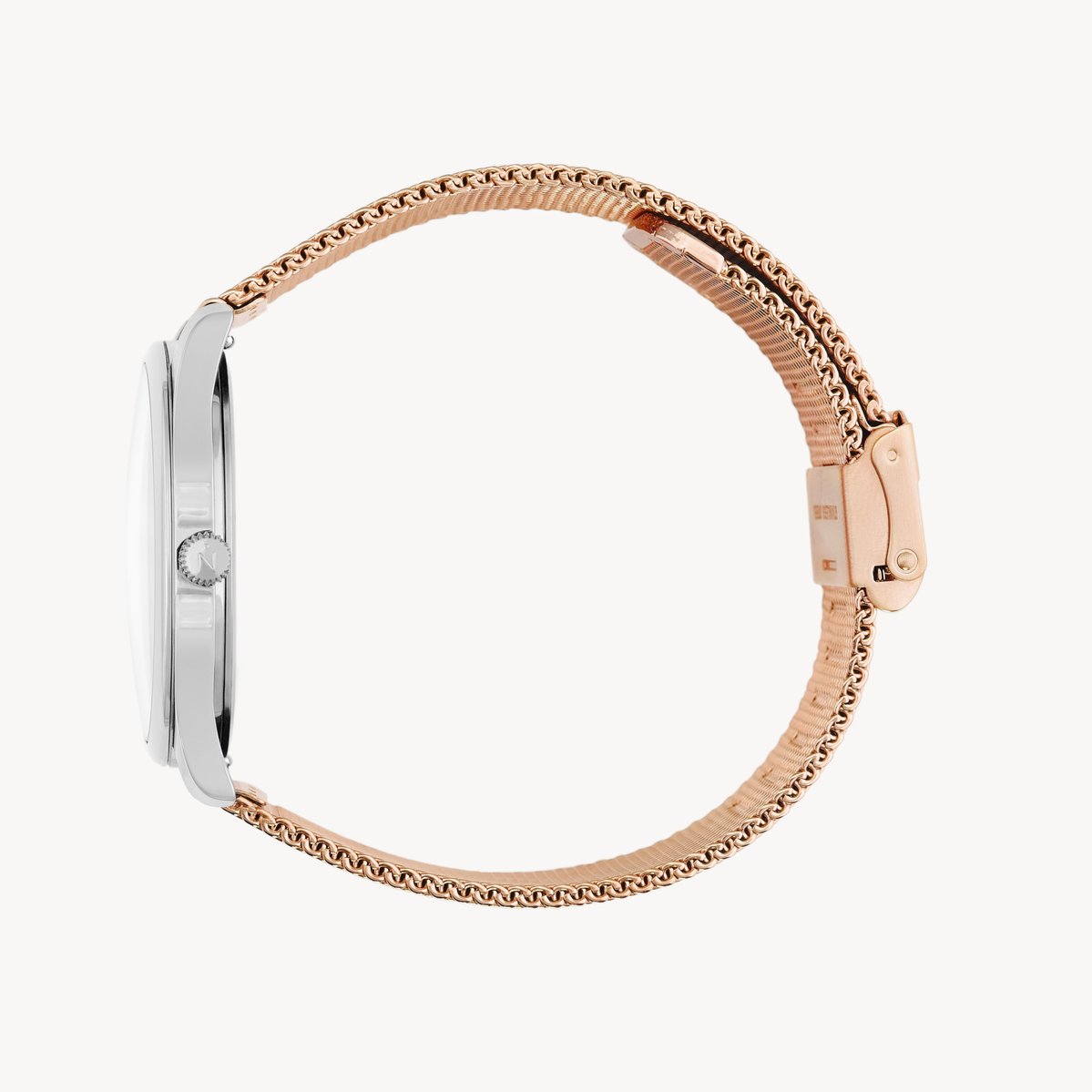 Lune - Stainless Steel - Rose Gold Mesh