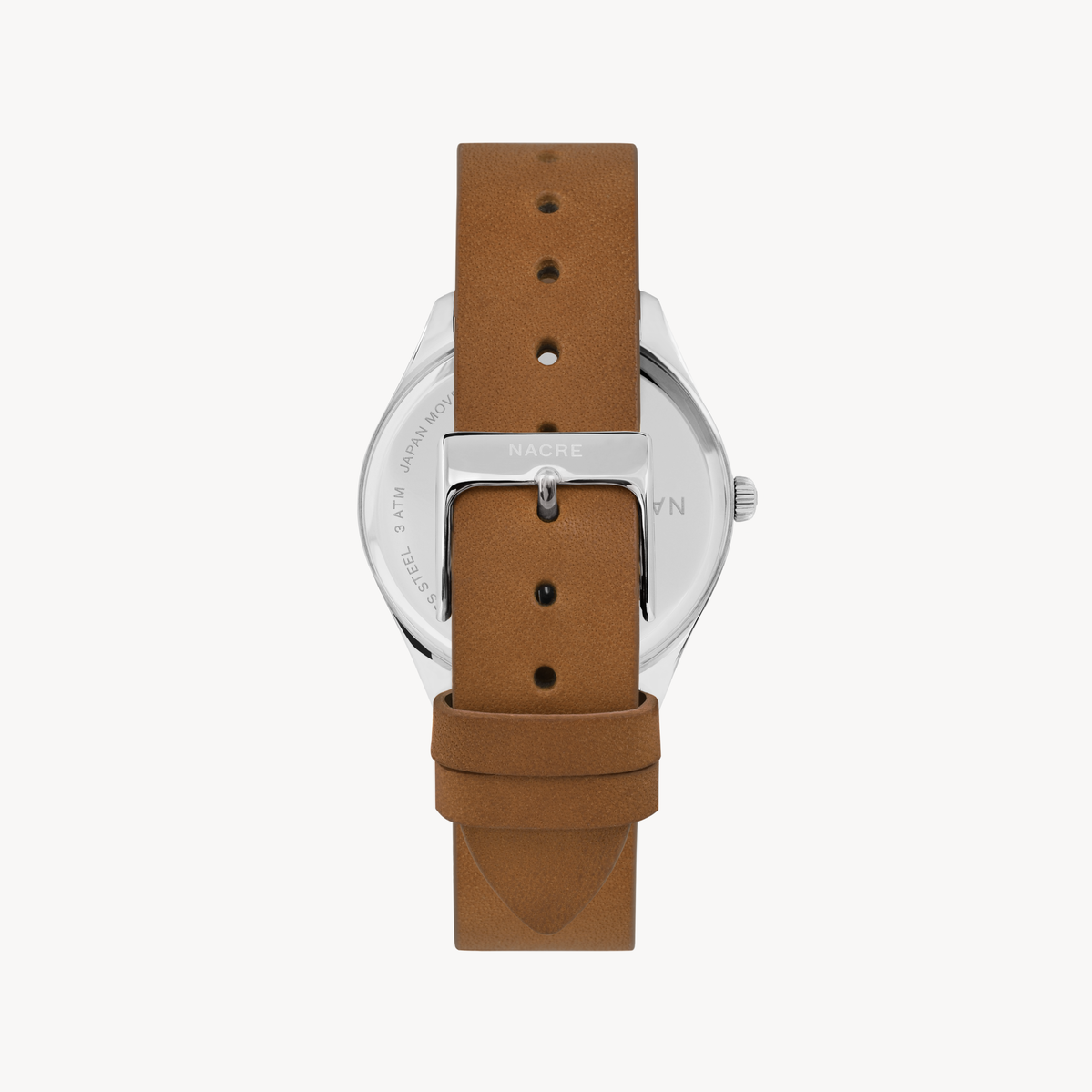 Lune - Stainless Steel - Saddle Leather