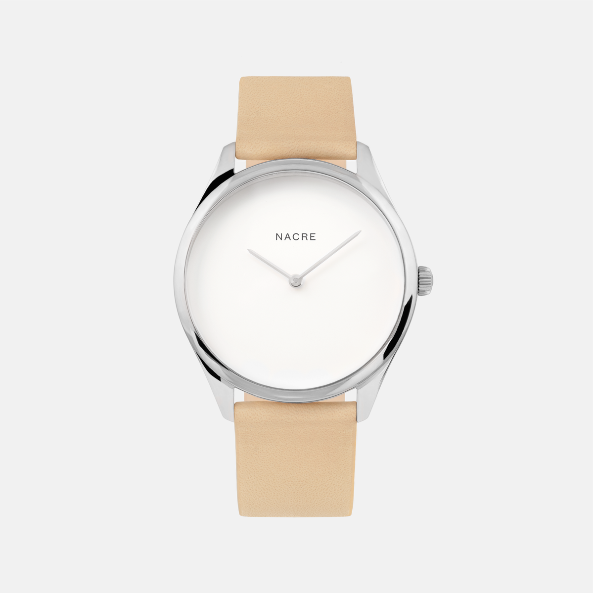 Lune - Stainless Steel - Natural Leather