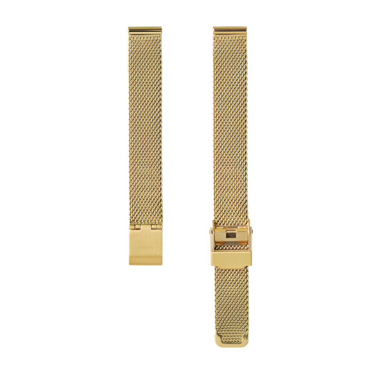 Strap - Italian Leather - Natural Leather - Gold - 12mm