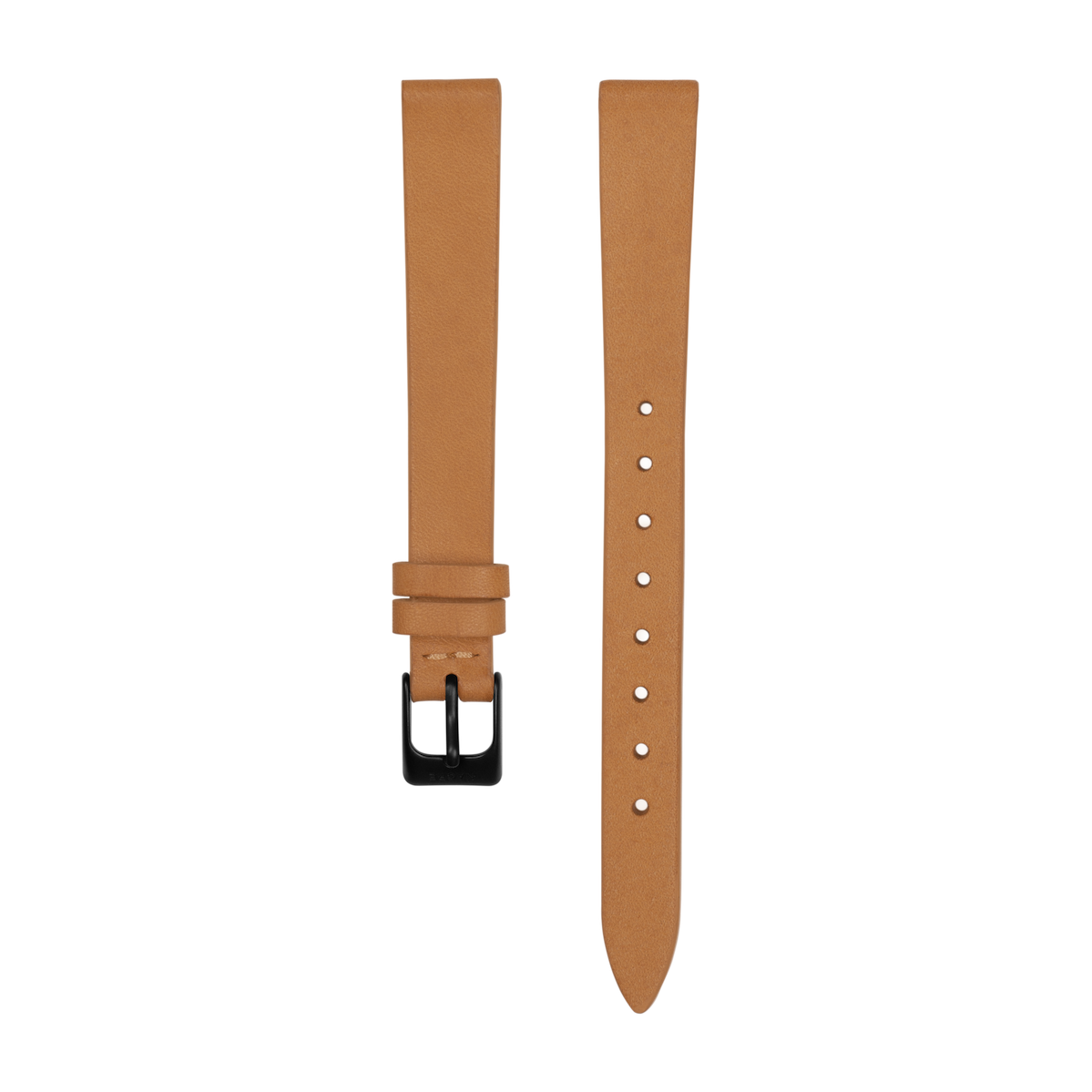 Strap - Italian Leather - Natural Leather - Matte Black - 12mm