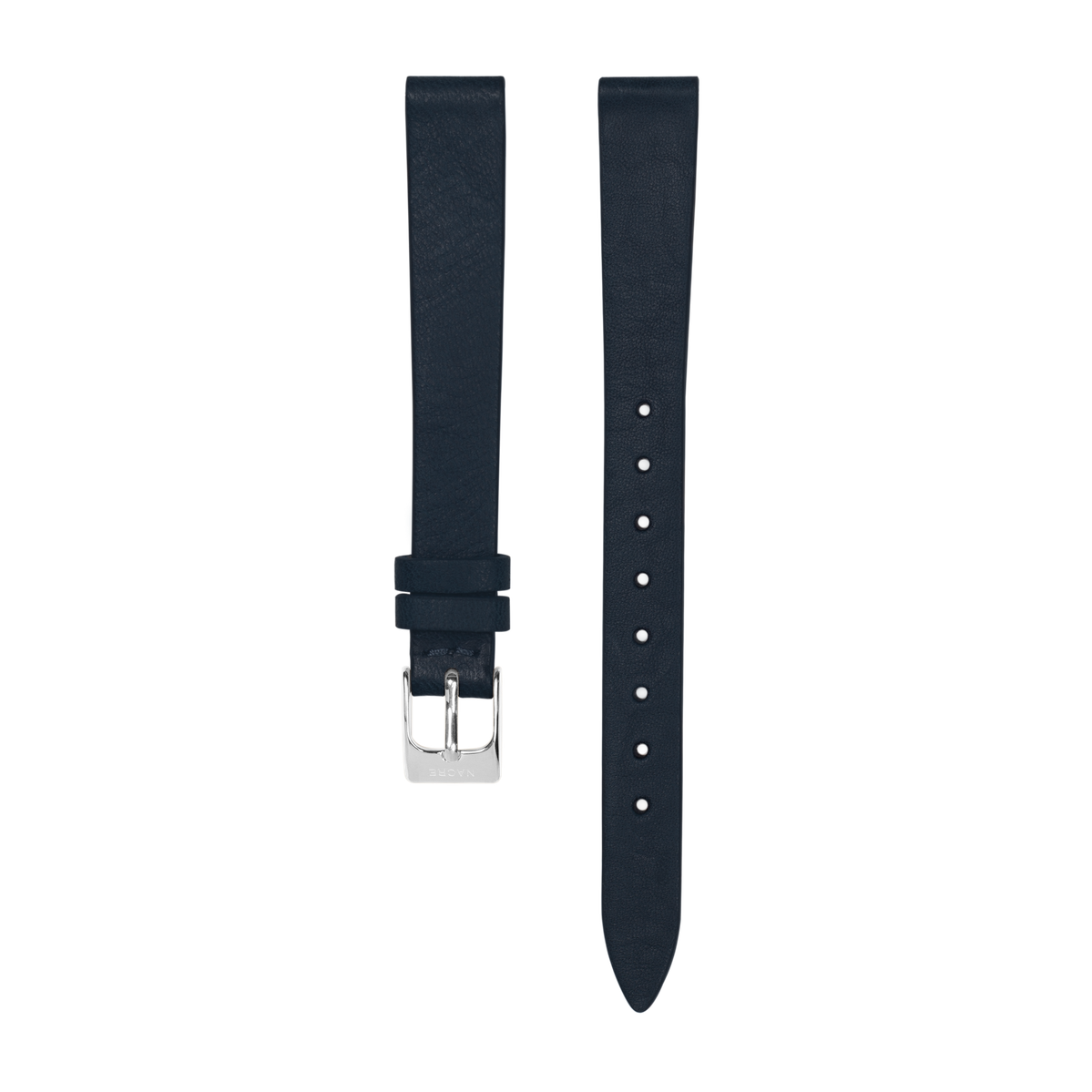 Strap - Italian Leather - Navy Leather - Stainless Steel - 12mm