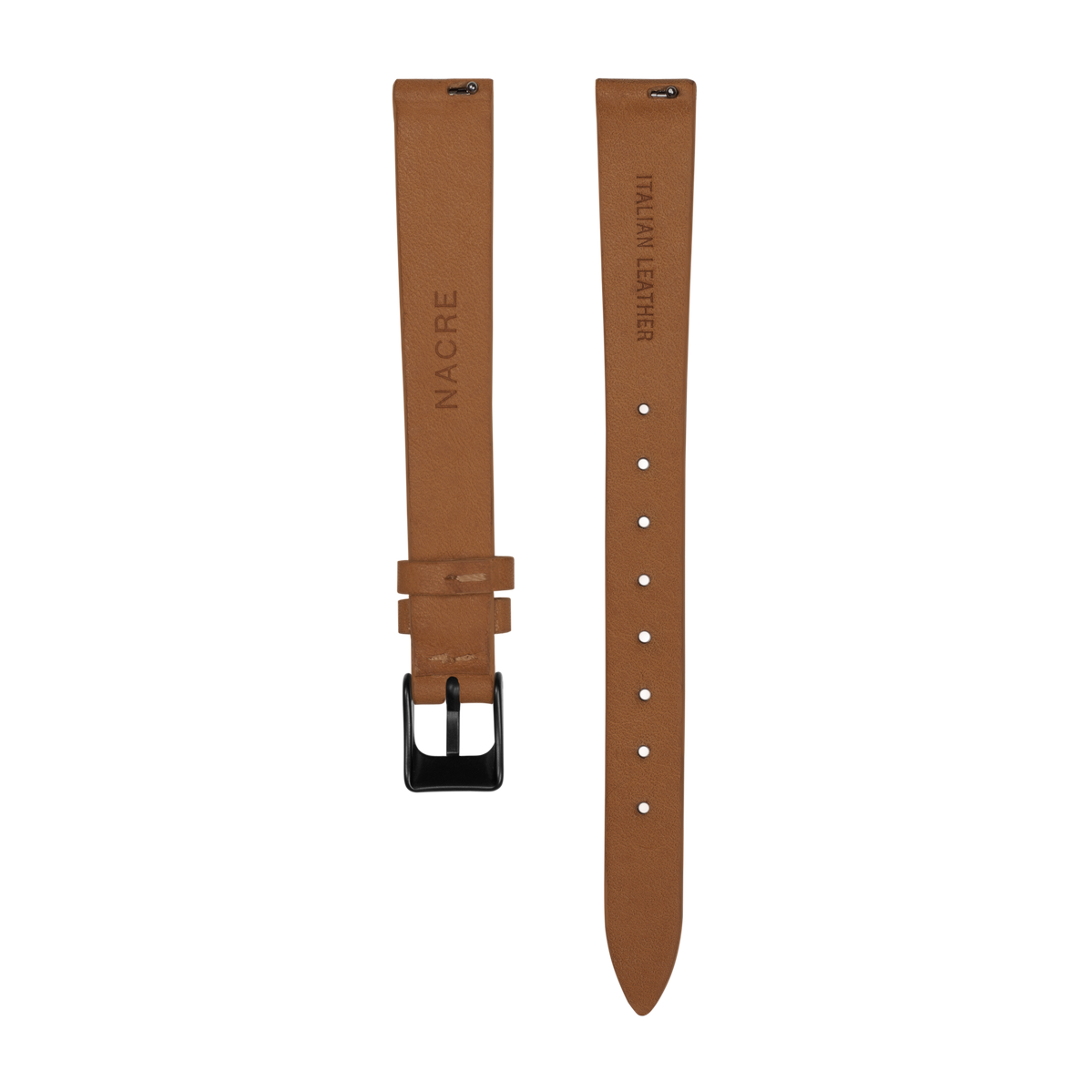 Strap - Italian Leather - Saddle Leather - Matte Black - 12mm