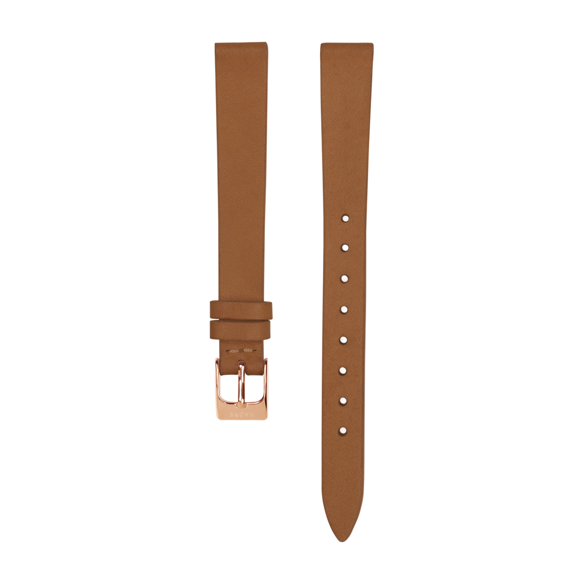 Strap - Italian Leather - Saddle Leather - Rose Gold - 12mm