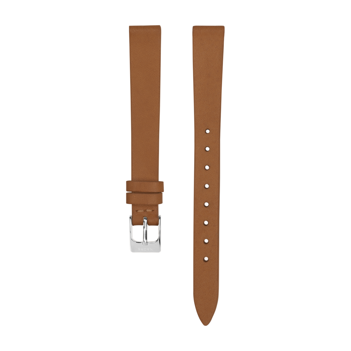 Strap - Italian Leather - Saddle Leather - Stainless Steel - 12mm