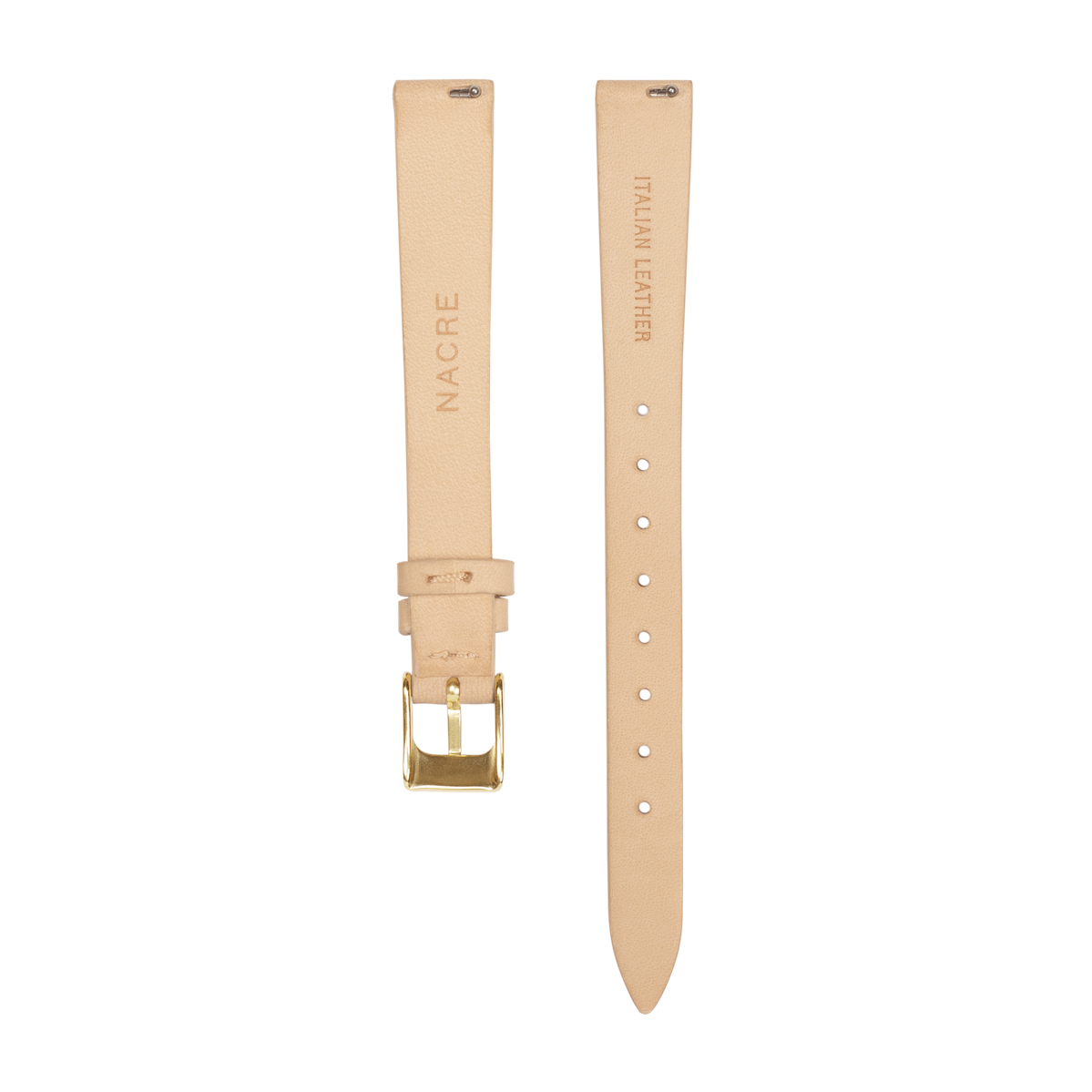 Strap - Italian Leather - Sand Leather - Gold - 12mm