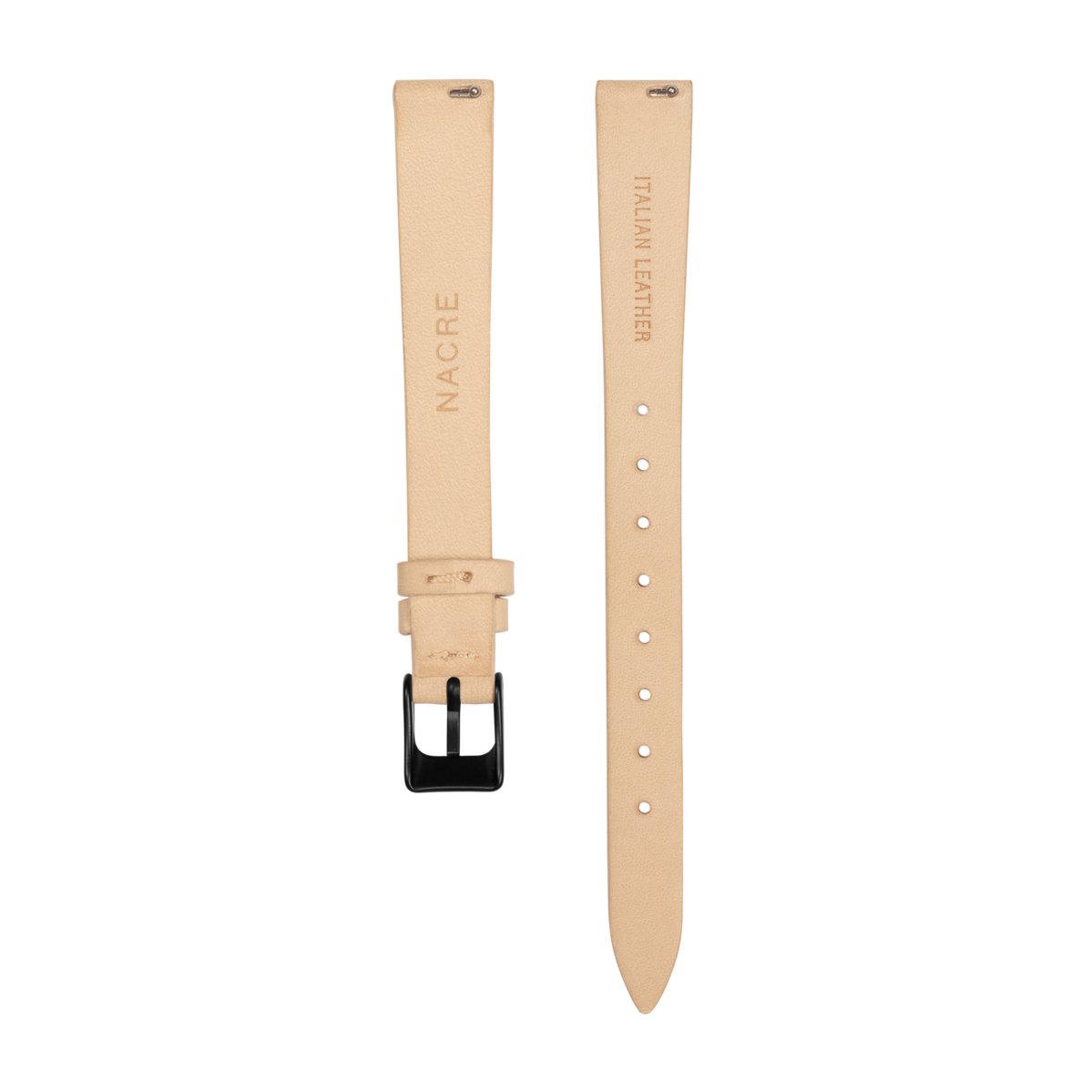 Strap - Italian Leather - Sand Leather - Matte Black - 12mm