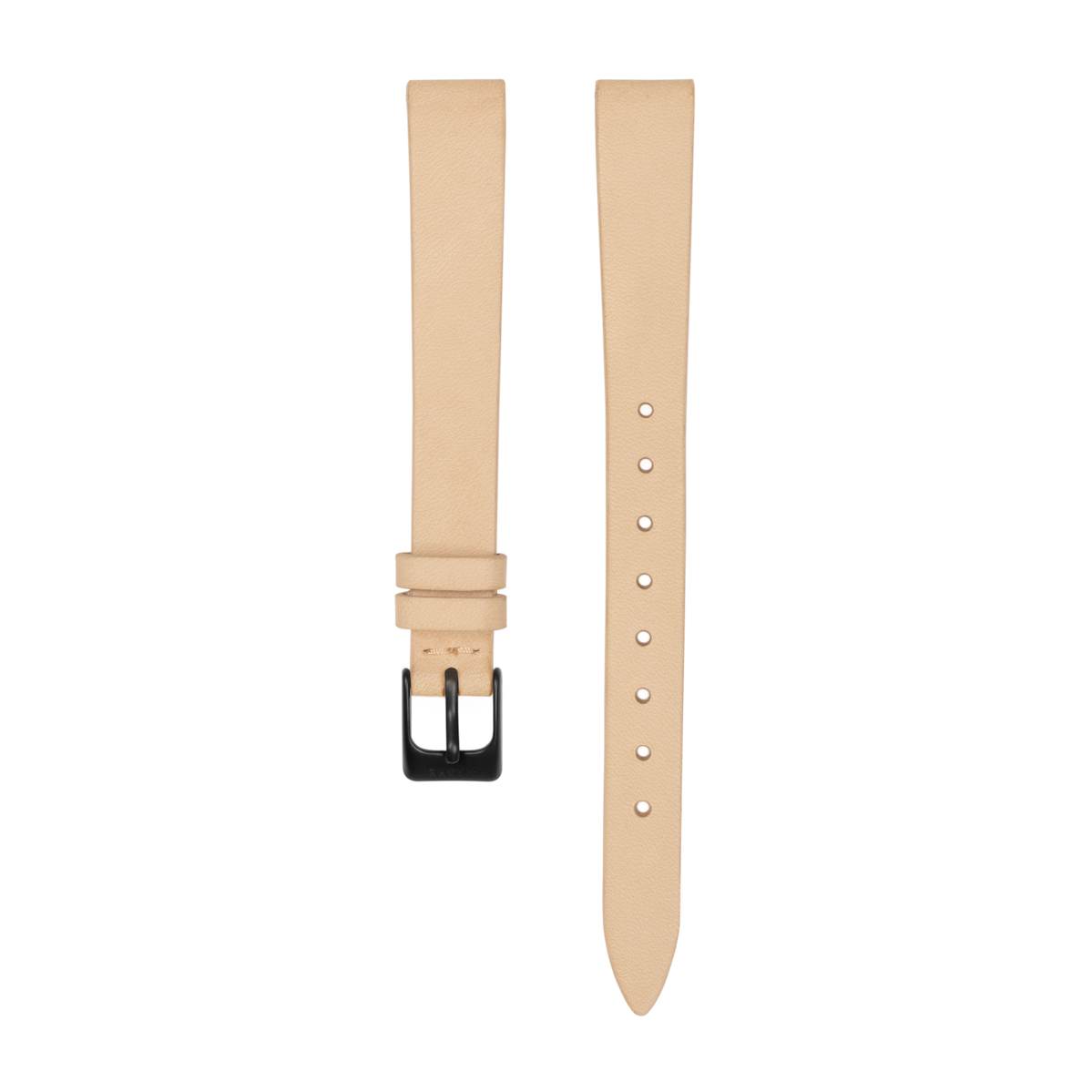 Strap - Italian Leather - Sand Leather - Matte Black - 12mm