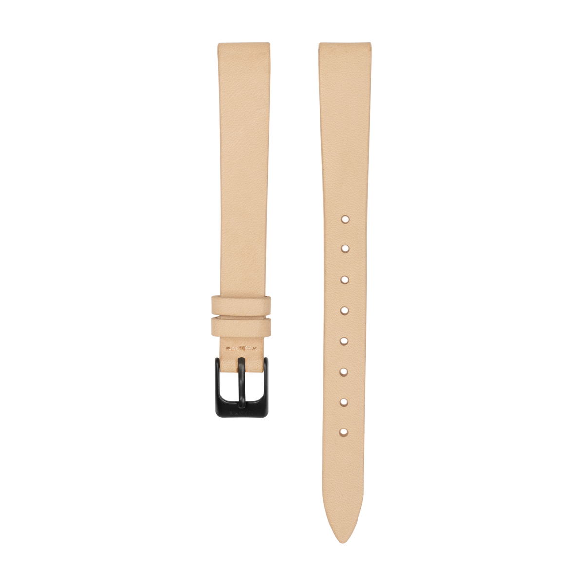 Strap - Italian Leather - Saddle Leather - Matte Black - 12mm