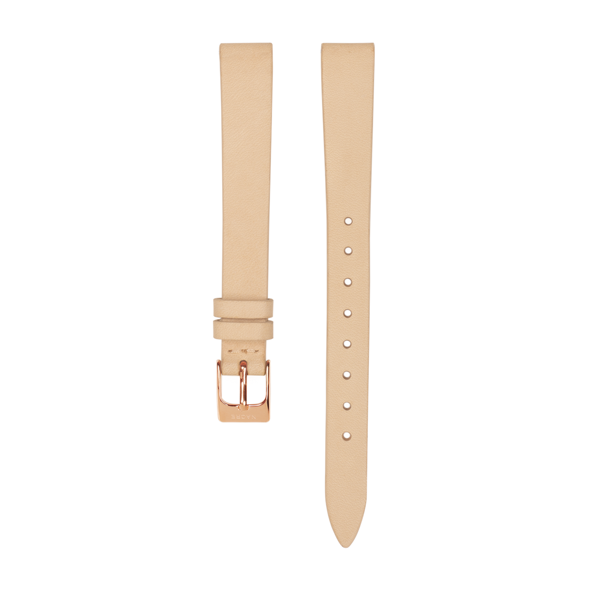 Strap - Italian Leather - Sand Leather - Rose Gold - 12mm