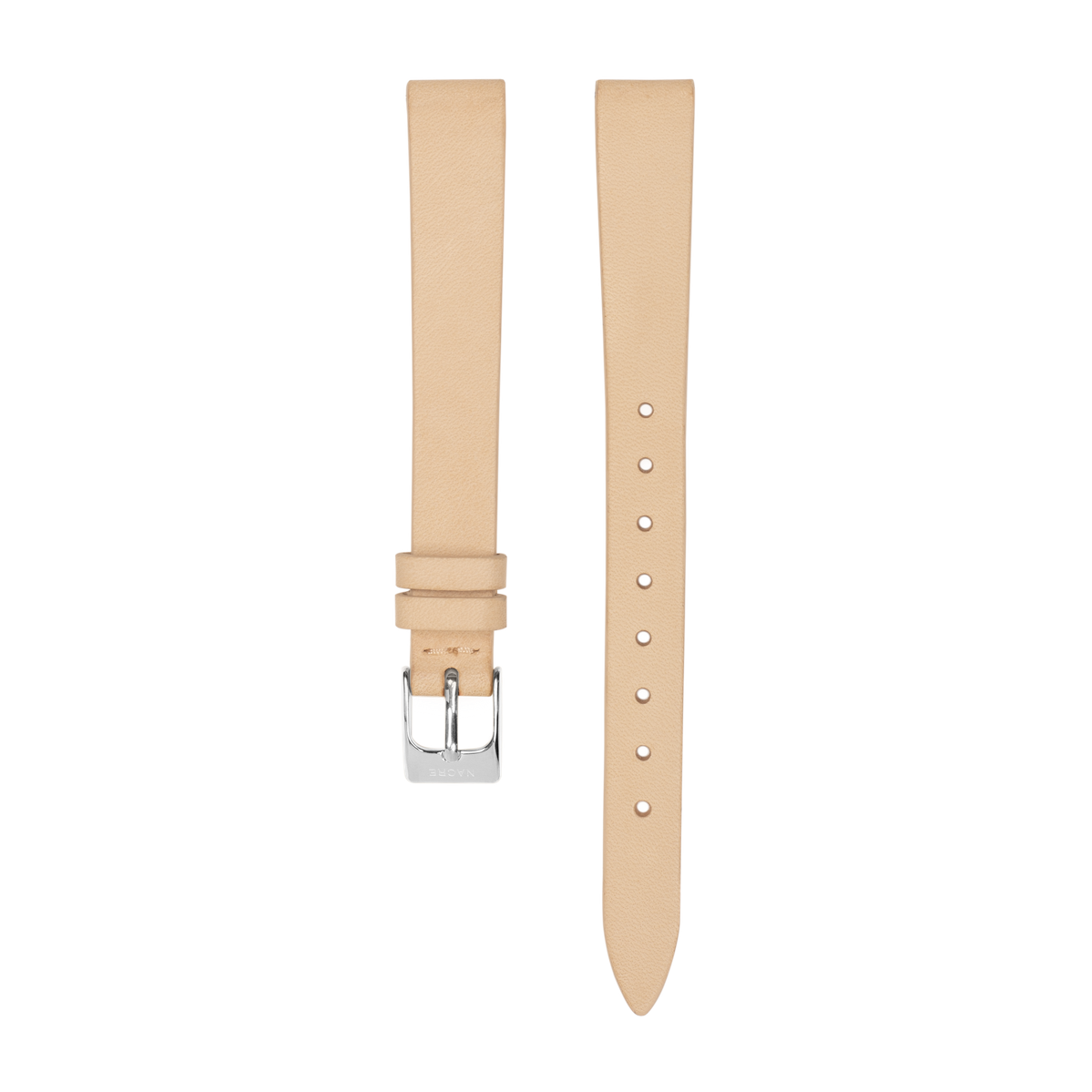 Strap - Italian Leather - Sand Leather - Stainless Steel - 12mm