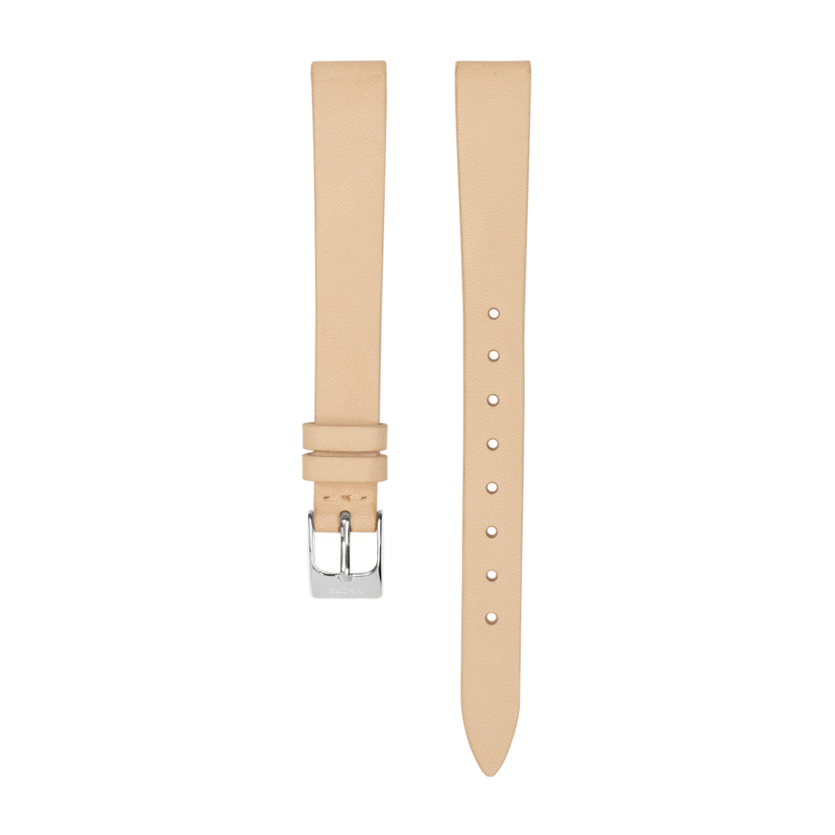 Strap - Italian Leather - Natural Leather - Stainless Steel - 12mm