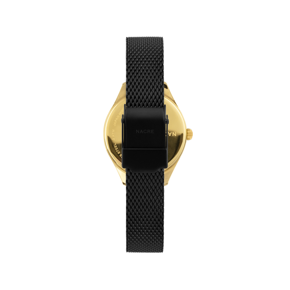 Mini Lune - Gold - Black Leather