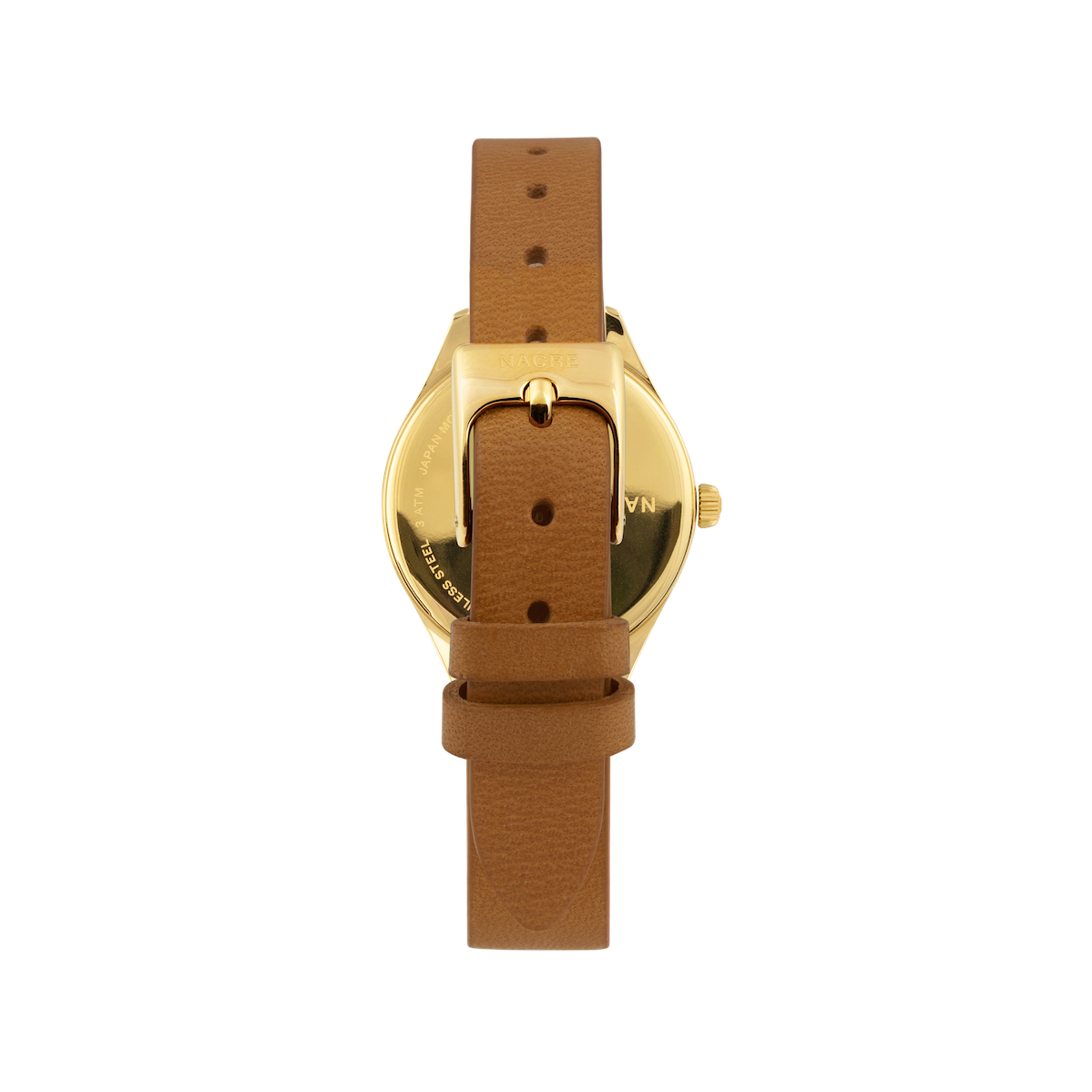Mini Lune - Gold - Saddle Leather