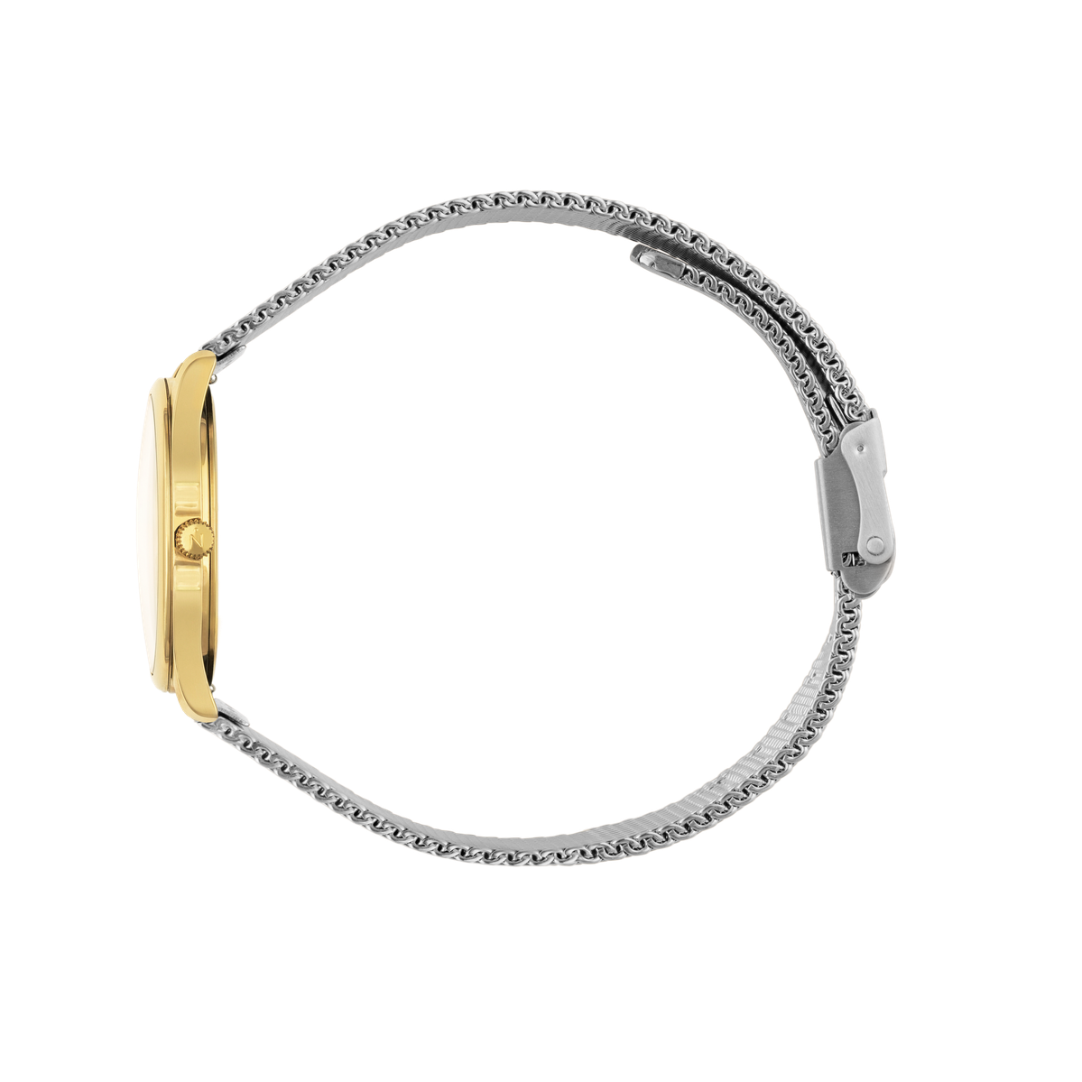 Mini Lune - Gold - Stainless Steel Mesh