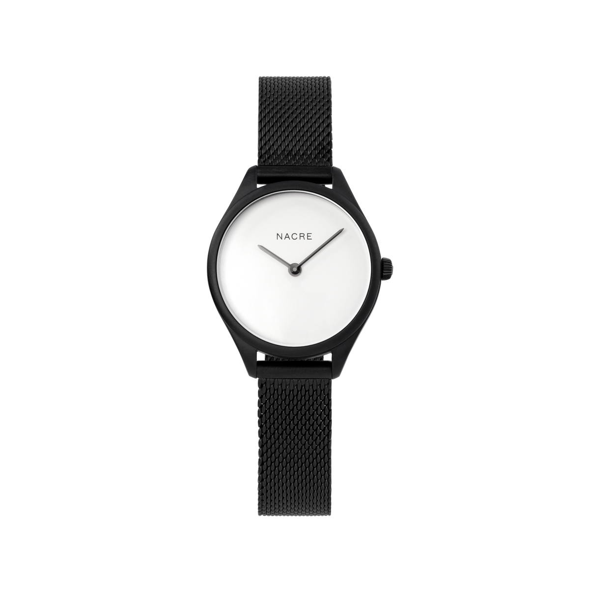 Mini Lune - Matte Black - Natural Leather
