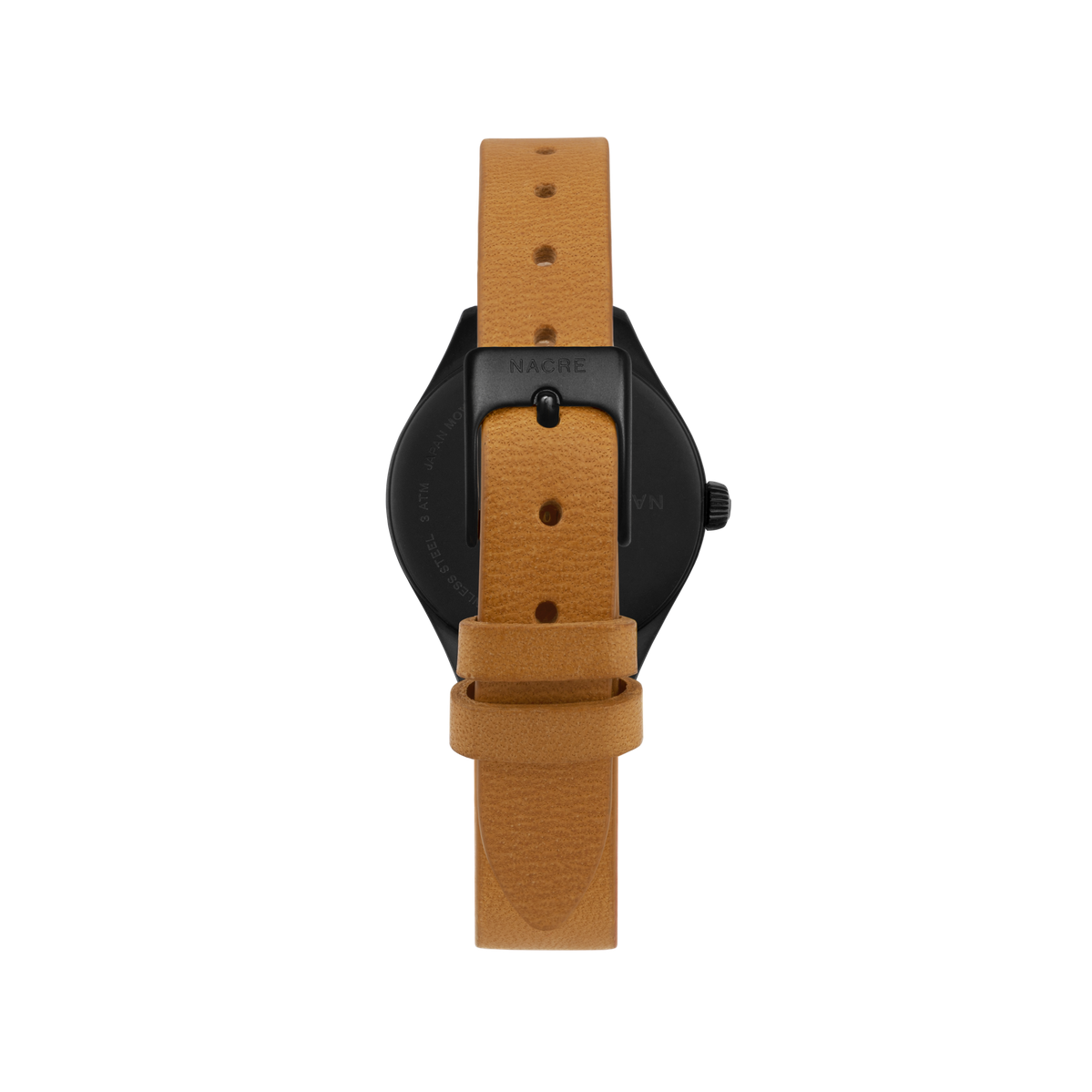 Mini Lune - Matte Black - Sand Leather