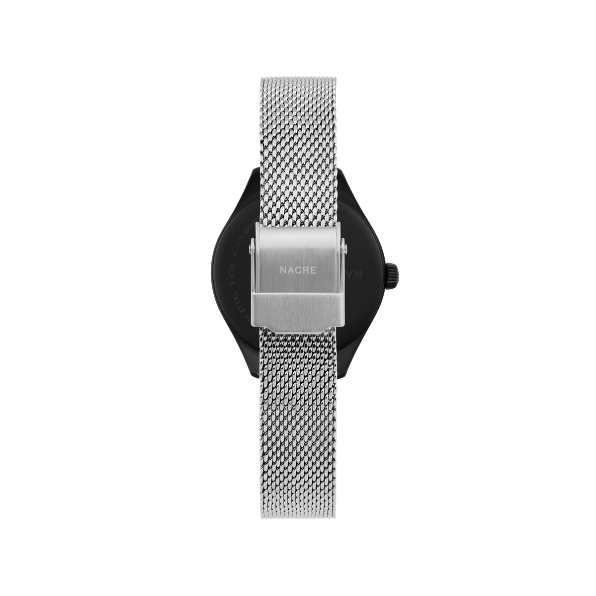 Mini Lune - Matte Black - Stainless Steel Mesh