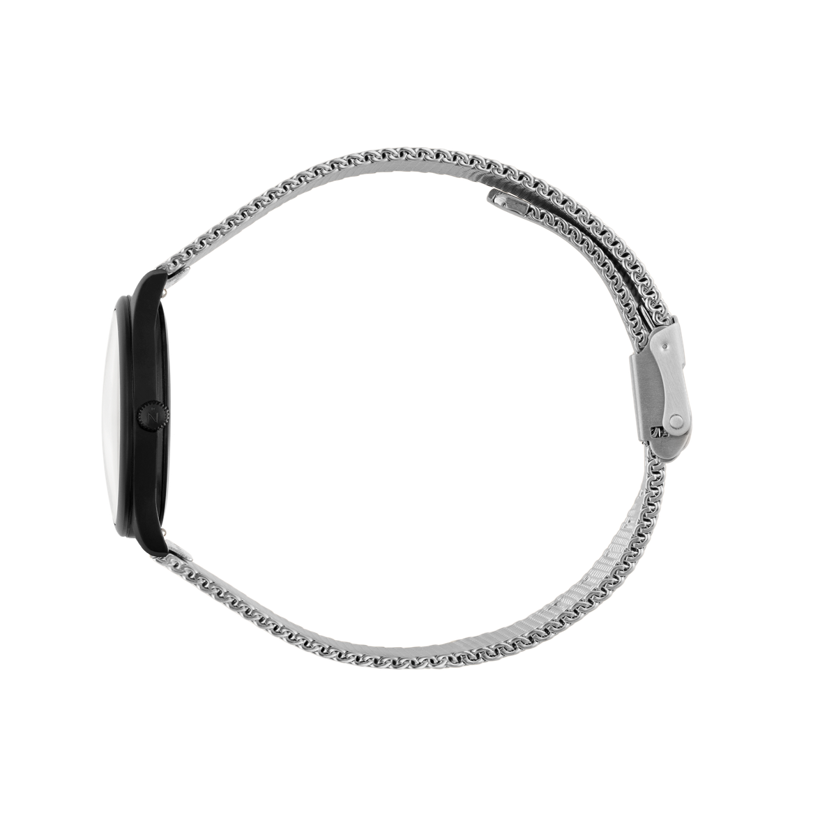 Mini Lune - Matte Black - Stainless Steel Mesh