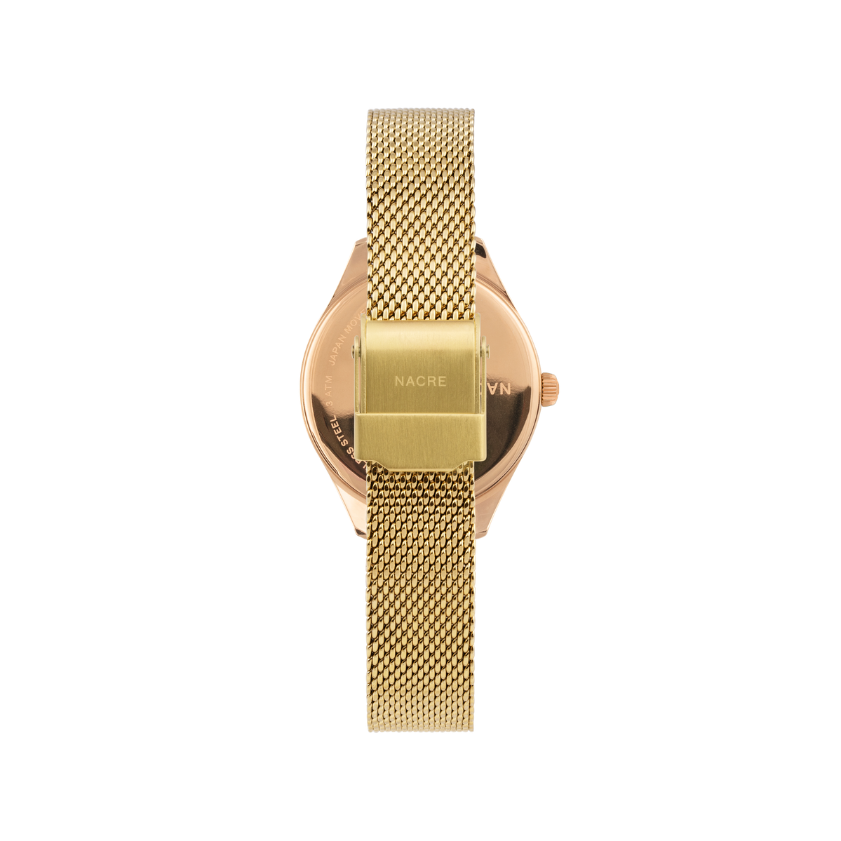 Mini Lune - Rose Gold - Gold Mesh