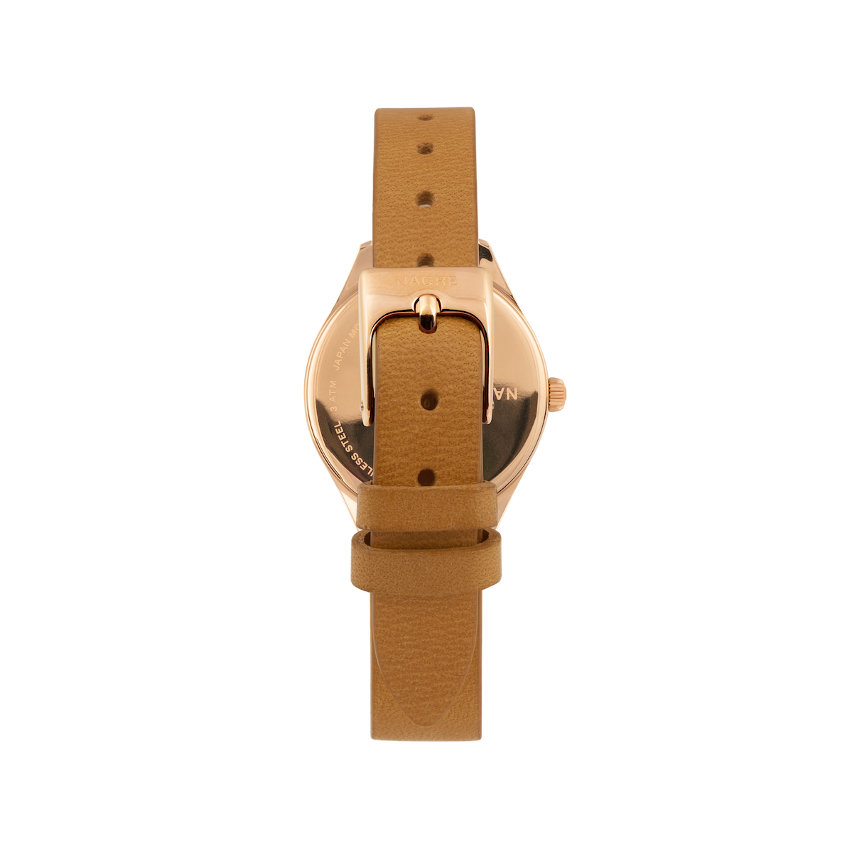 Mini Lune - Rose Gold - Natural Leather