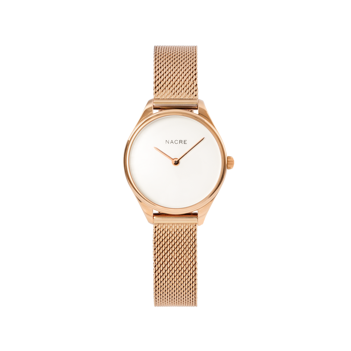 Mini Lune - Rose Gold - Sand Leather