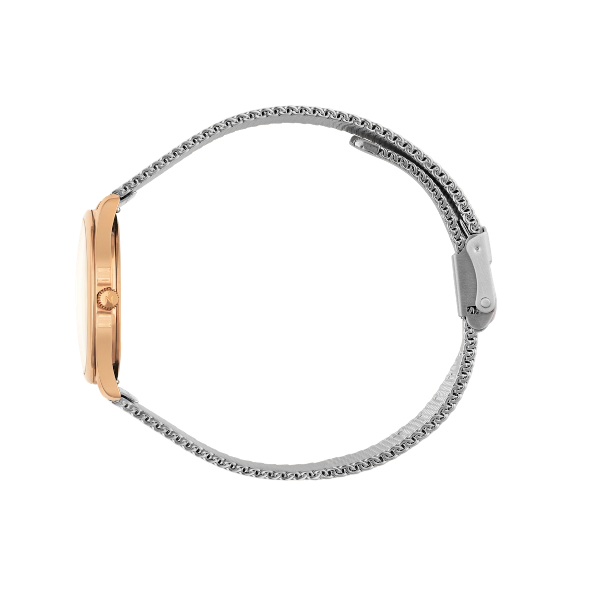 Mini Lune - Rose Gold - Stainless Steel Mesh