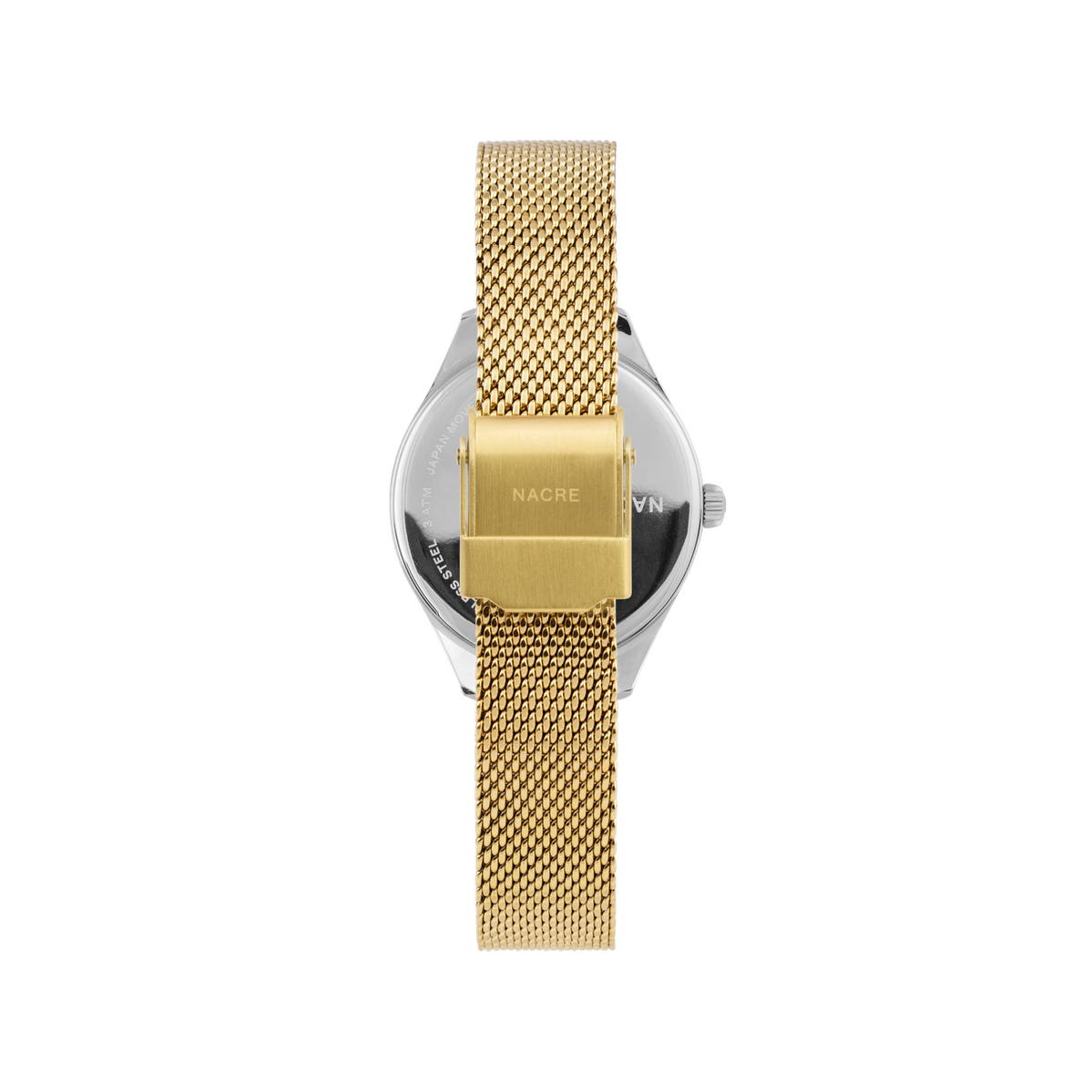 Mini Lune - Stainless Steel - Gold Mesh