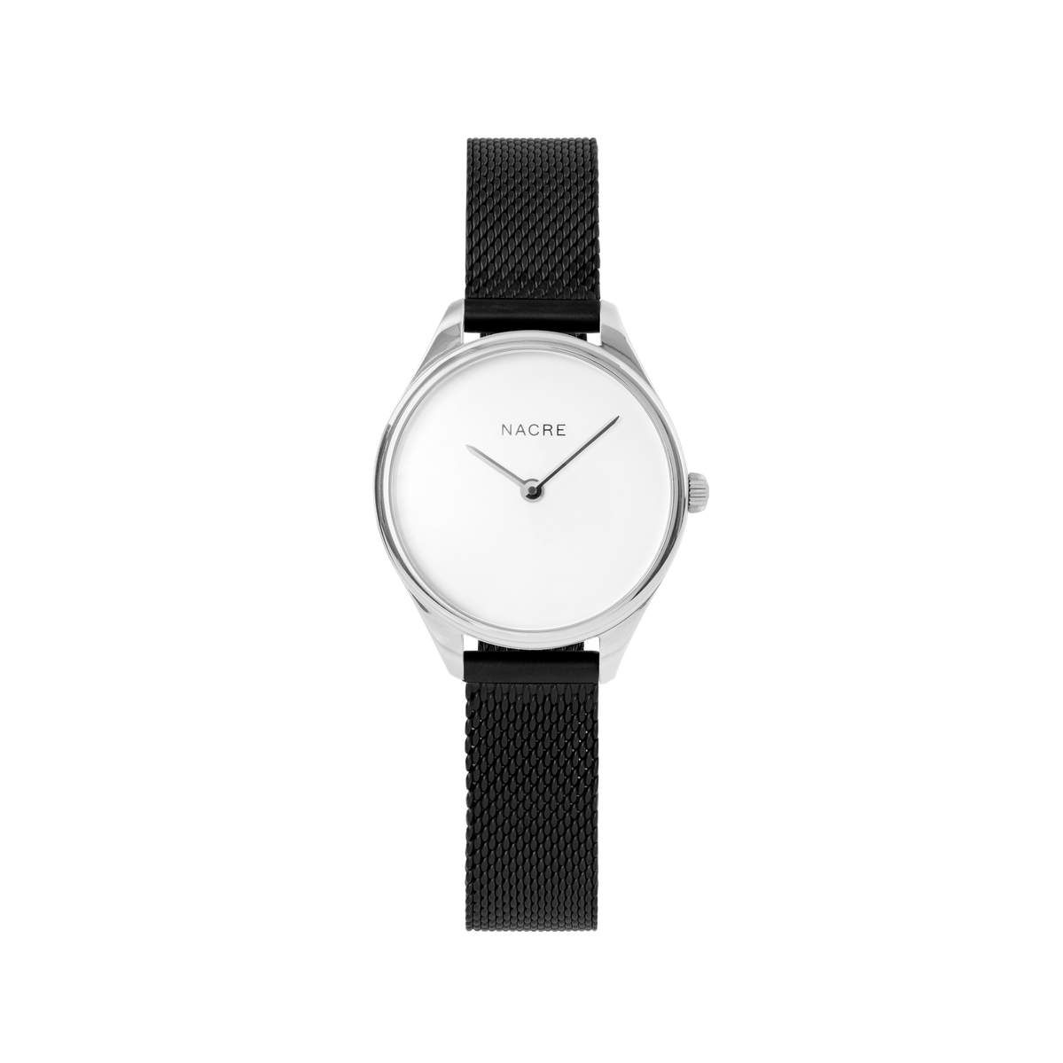 Mini Lune - Stainless Steel - Matte Black Mesh