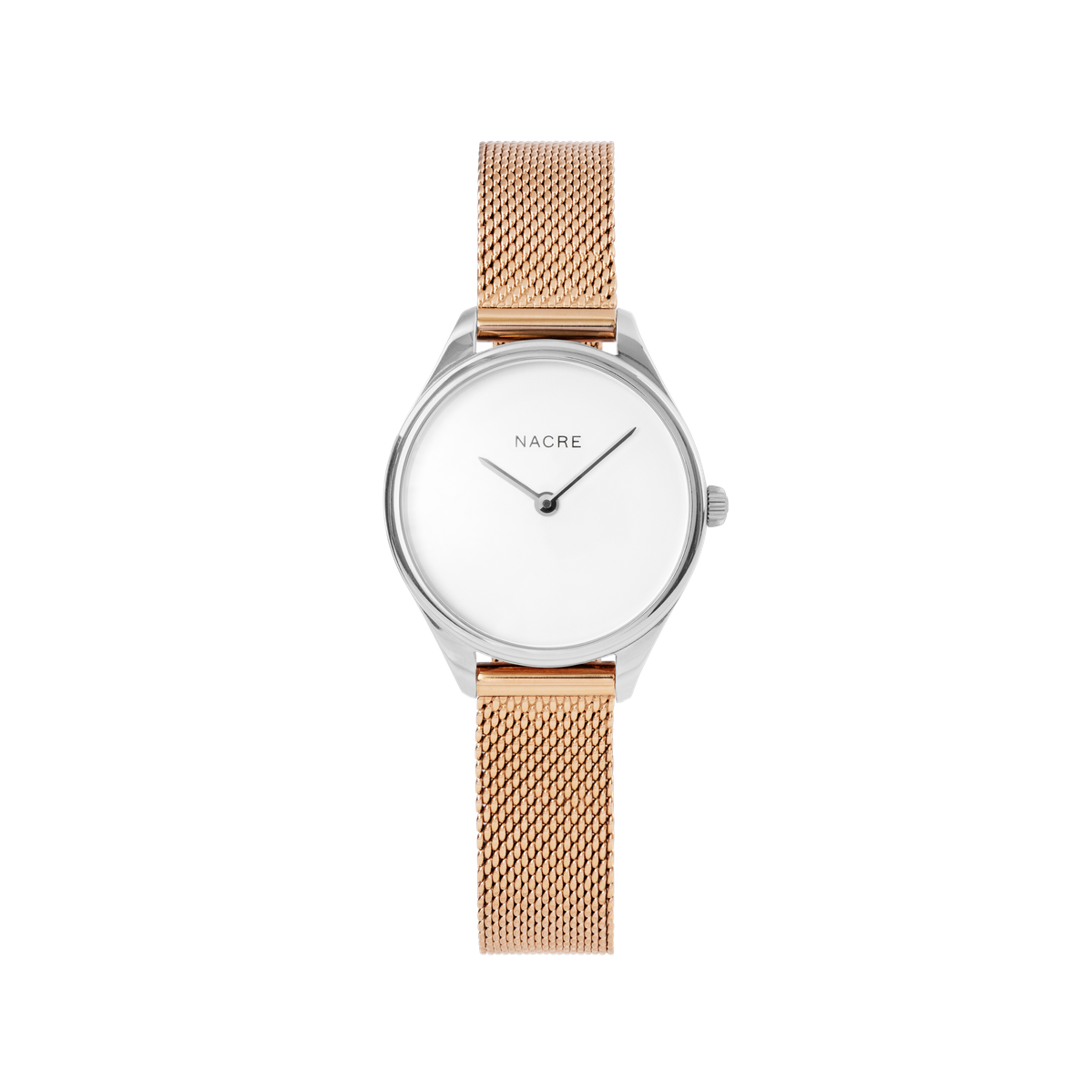 Mini Lune - Stainless Steel - Sand Leather