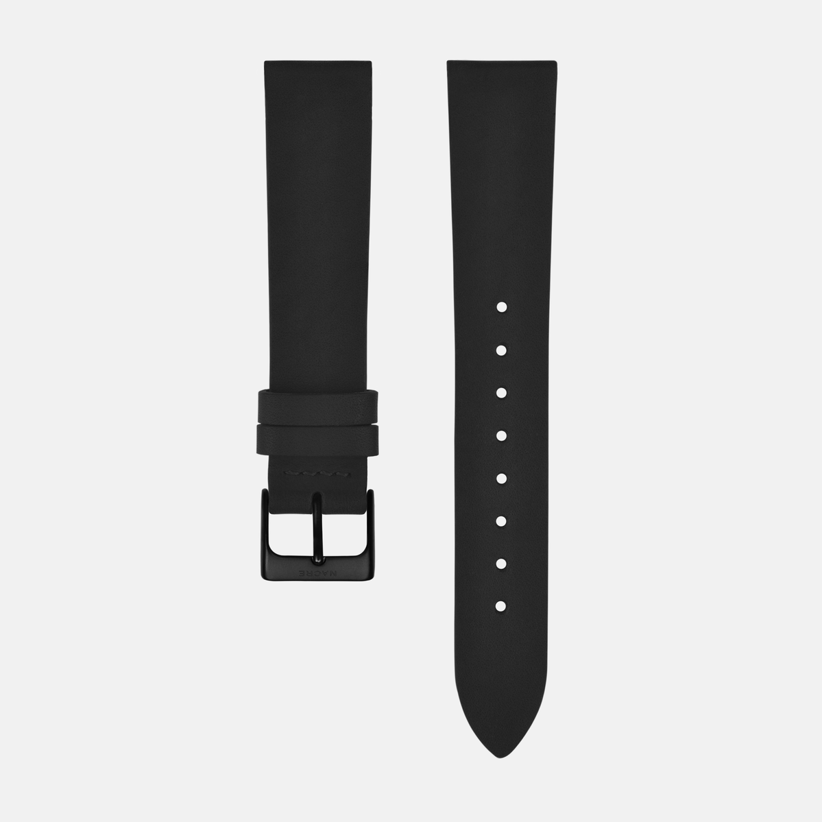 Strap - Italian Leather - Saddle Leather - Matte Black