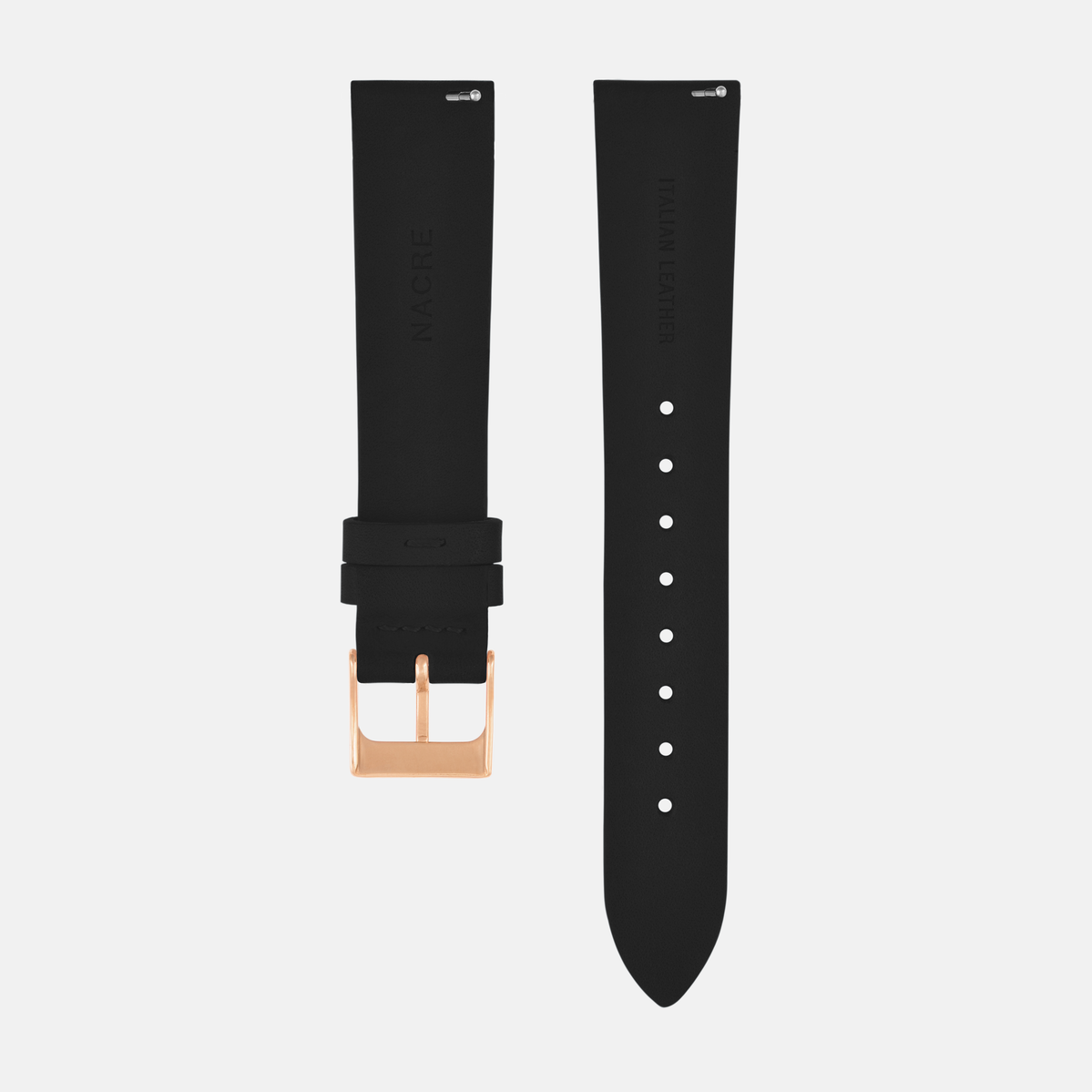 Strap - Italian Leather - Saddle Leather - Rose Gold