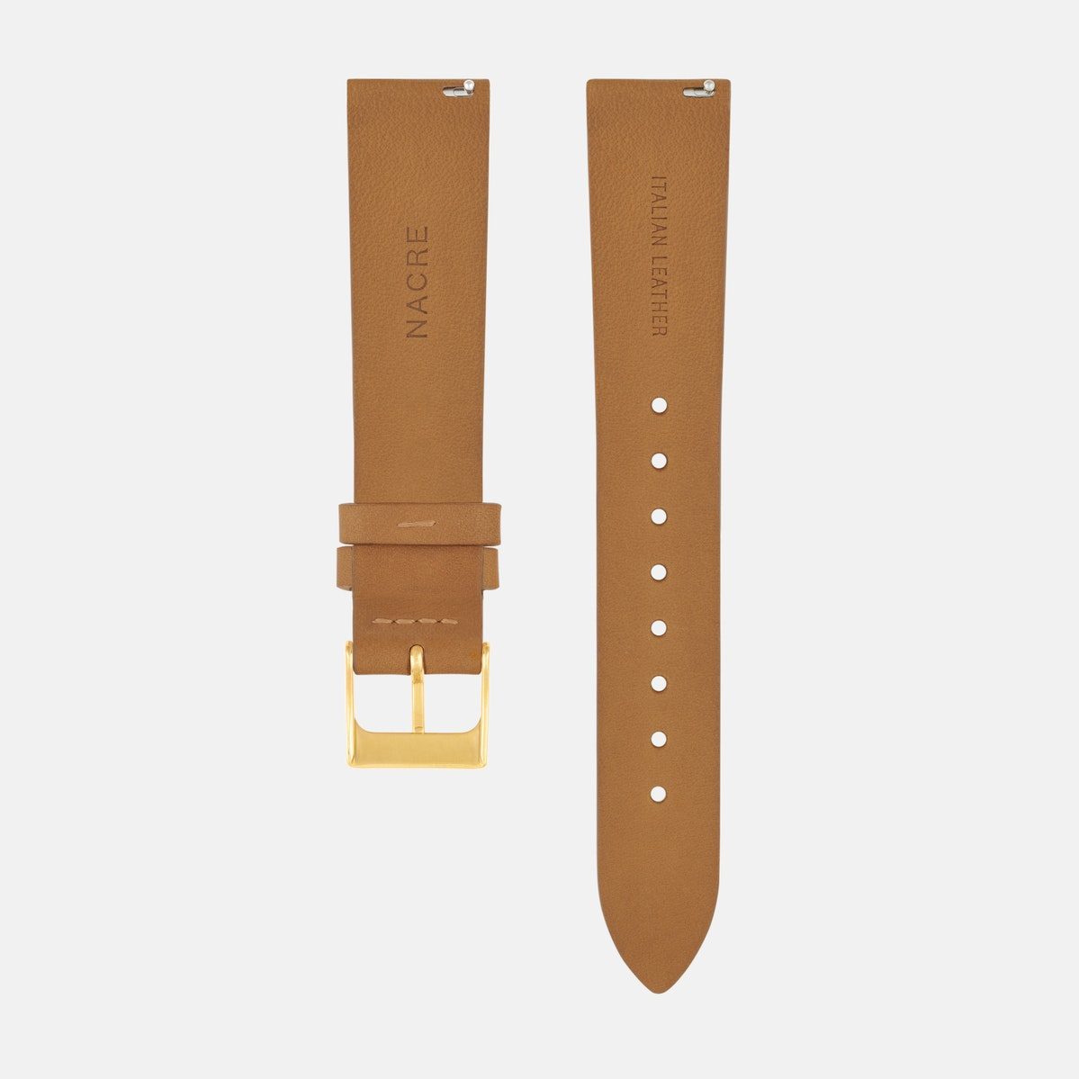 Strap - Italian Leather - Saddle Leather - Gold