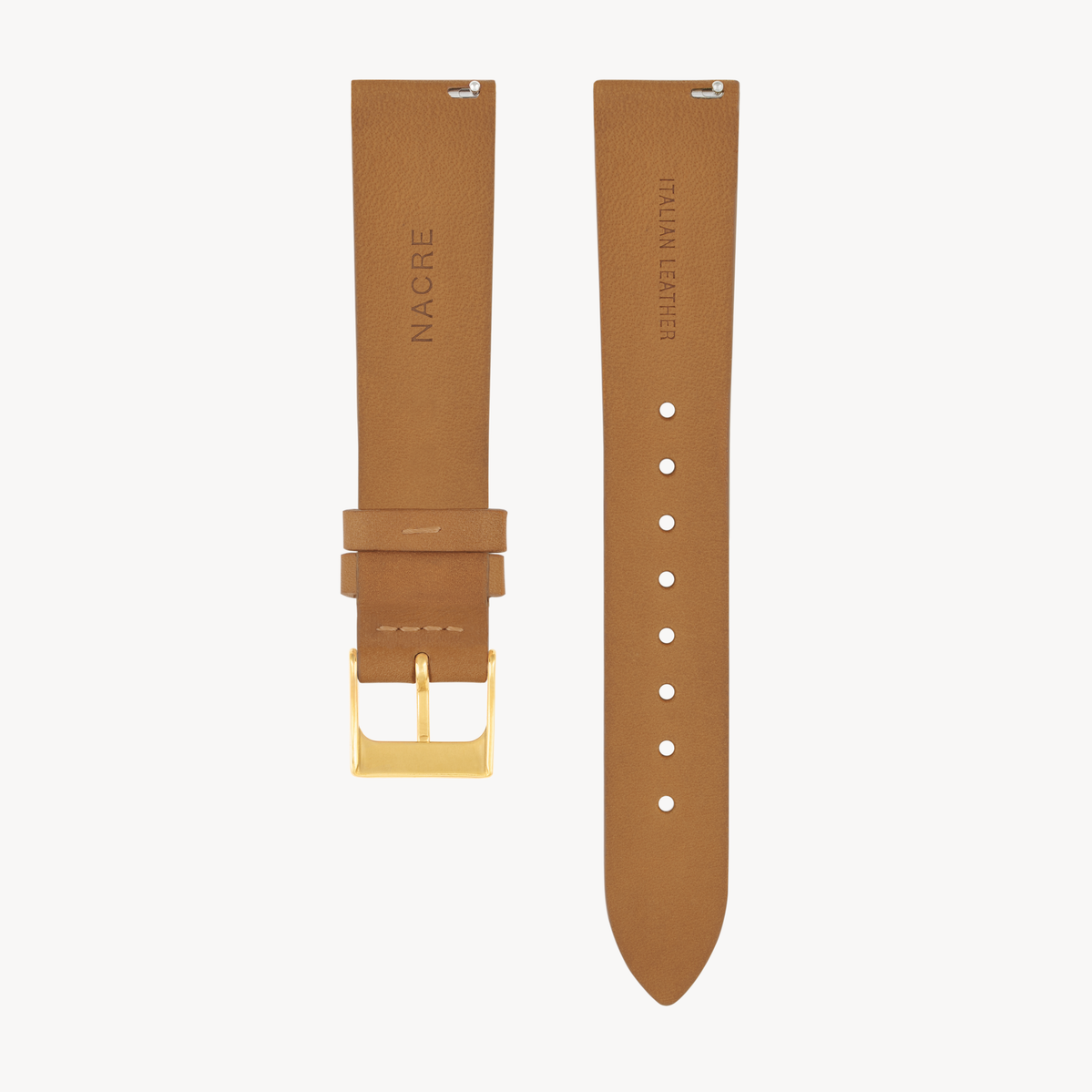 Strap - Italian Leather - Natural Leather - Gold