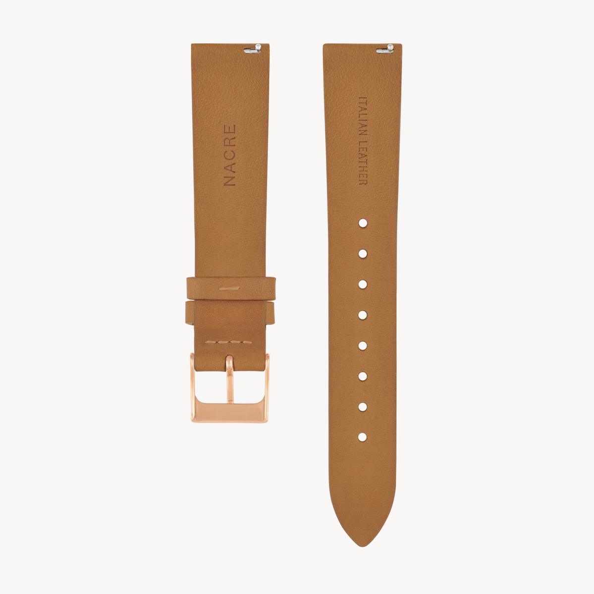 Strap - Italian Leather - Natural Leather - Rose Gold