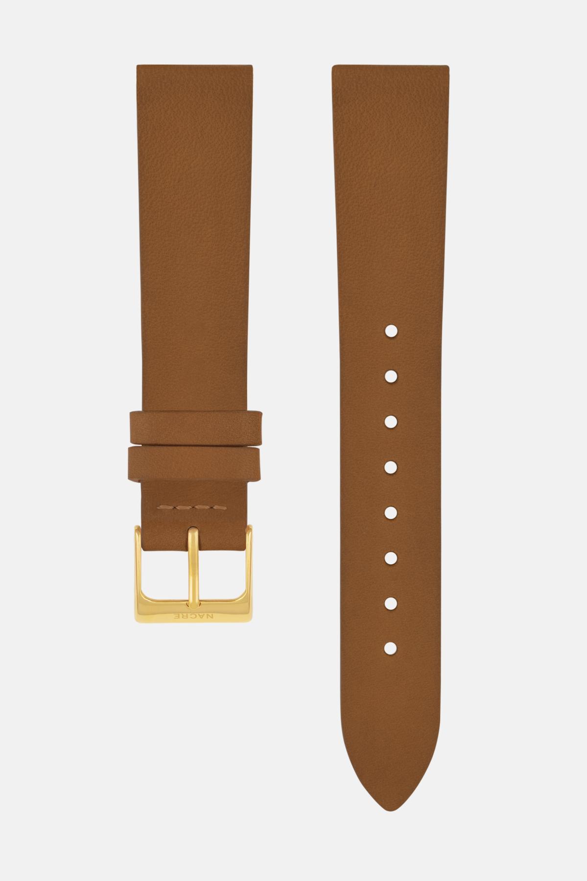 Strap - Italian Leather - Saddle Leather - Gold