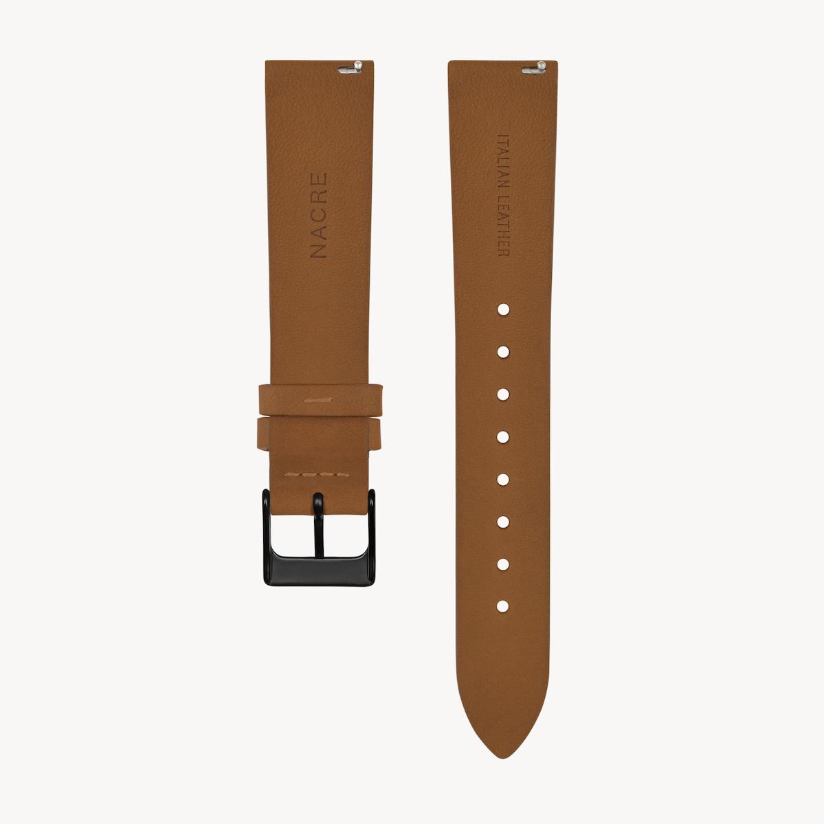 Strap - Italian Leather - Saddle Leather - Matte Black