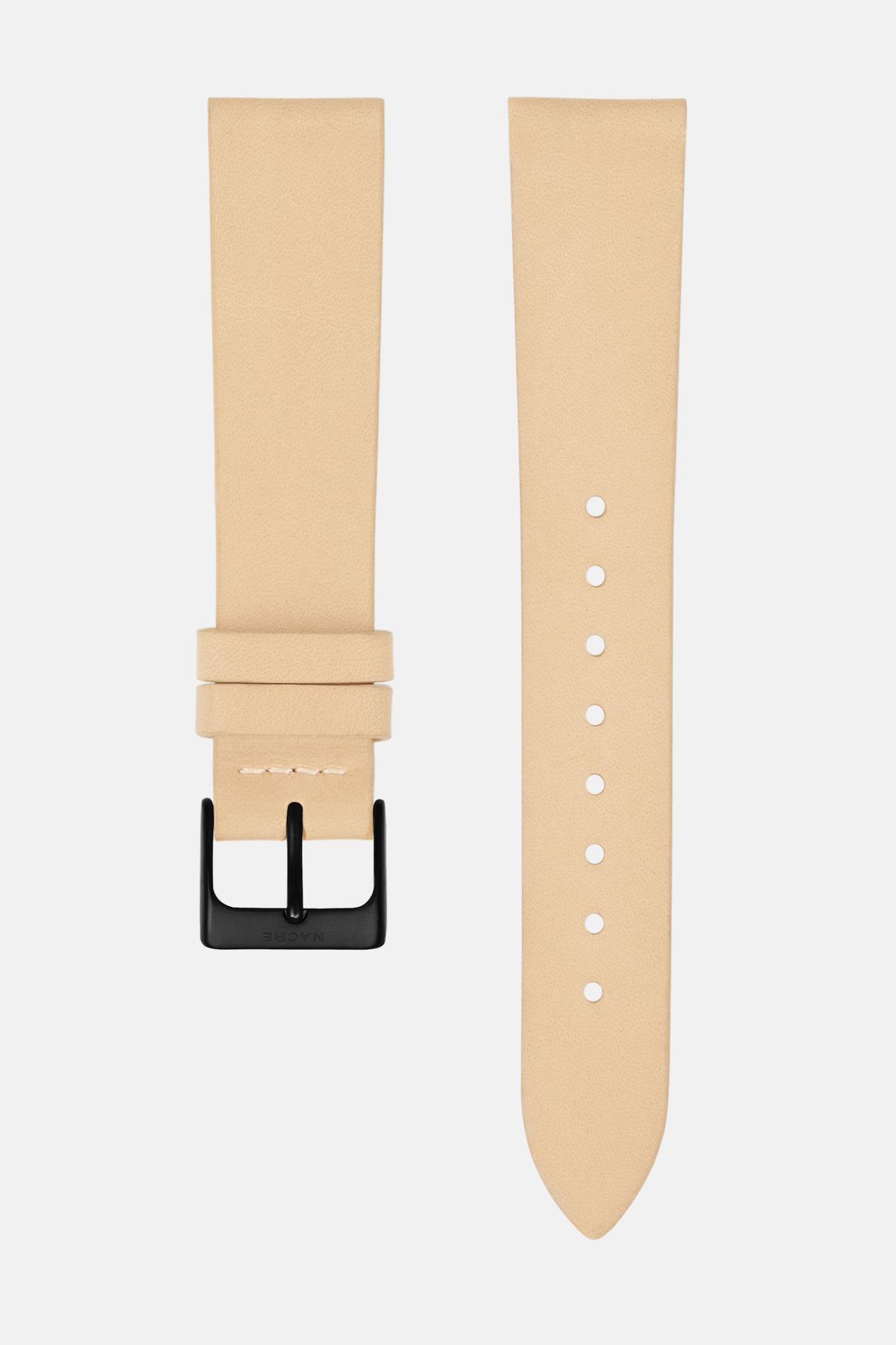 Strap - Italian Leather - Sand Leather - Matte Black