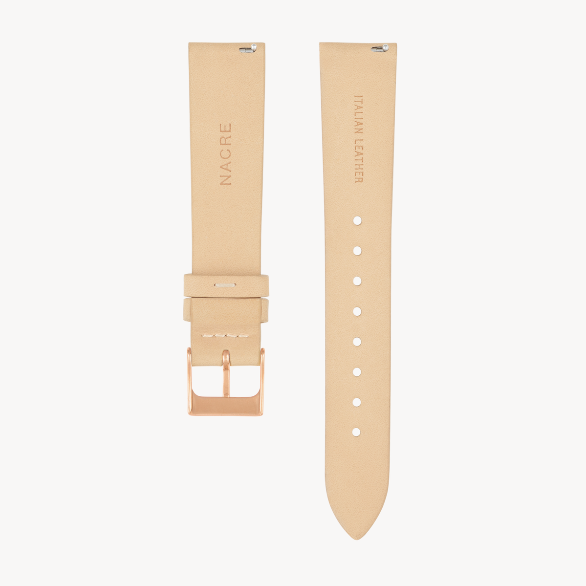 Strap - Italian Leather - Sand Leather - Rose Gold