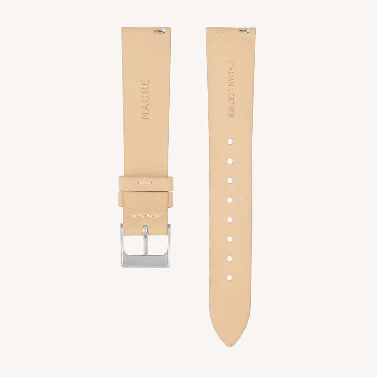Strap - Italian Leather - Sand Leather - Stainless Steel