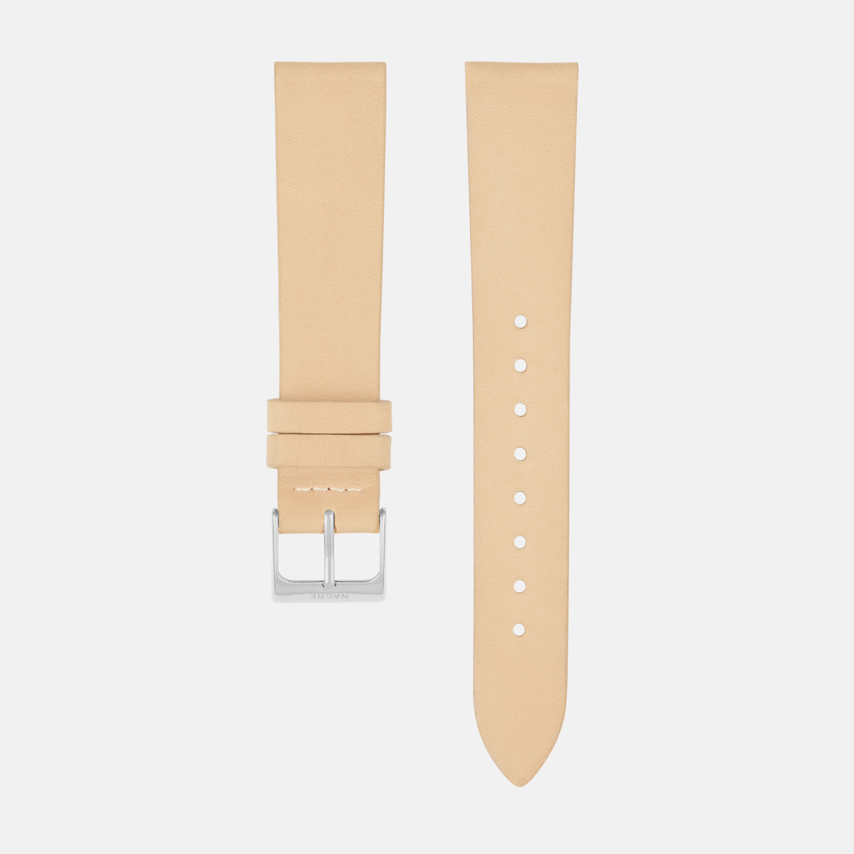 Strap - Italian Leather - Natural Leather - Stainless Steel